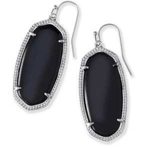 Kendra Scott Black and Silver Drop Earrings